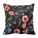 PODUSZKA POPPIES black 1