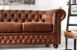 Sofa Chesterfield vintage 3 brązowa  5
