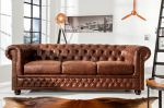 Sofa Chesterfield vintage 3 brązowa  1
