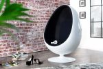 SOFA FOTEL SPACE EGG white & black 1134 3
