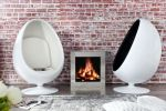 SOFA FOTEL SPACE EGG white & black 1134 9