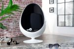 SOFA FOTEL SPACE EGG white & black 1134 2
