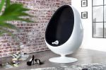 SOFA FOTEL SPACE EGG white & black 1134 0