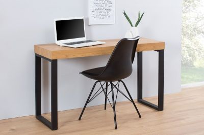 BIURKO BLACK DESK kolor dębu INVICTA INTERIOR 38429 0