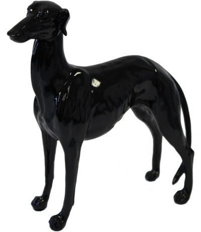 Deco Figurine Greyhound czarna