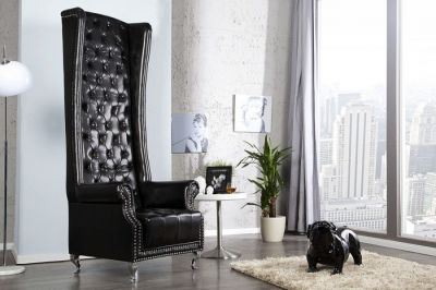 FOTEL QUEEN ROYAL CHAIR black 21400 0
