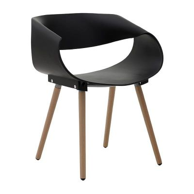 KRZESŁO LOUNGE CHAIR WAVE black 0