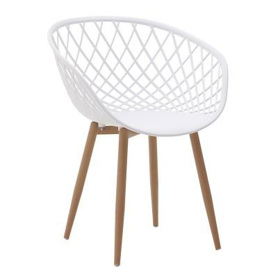 KRZESŁO LOUNGE CHAIR WOOD white 0
