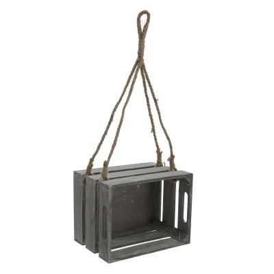 REGAŁ WISZĄCY STORAGE BOX ROPE grey 0