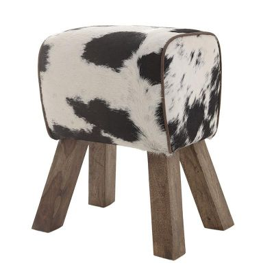 PUF TABORET BOCK COW black 0