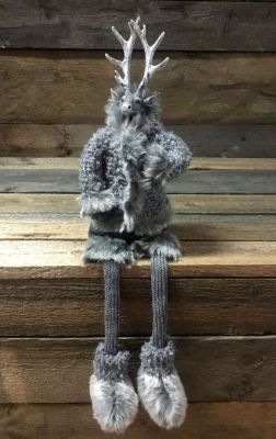 RENIFER FROZEN SITTING grey 60 cm 0