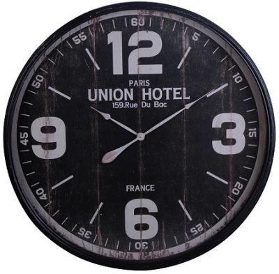 ZEGAR RETRO VINTAGE UNION HOTEL black 0