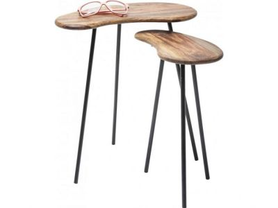 Stoliki Side Table Kidney nature zestaw
