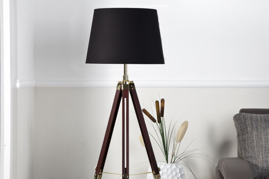 lampa sylt 90 155 cm brown 19696 invicta interior planeta design nowoczesne i designerskie lampy. Black Bedroom Furniture Sets. Home Design Ideas
