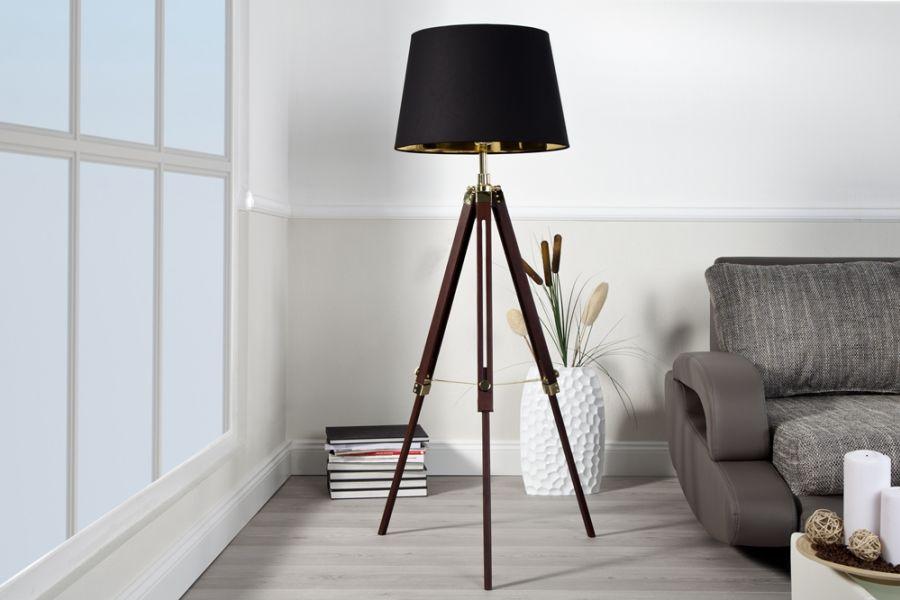 Lampa Sylt 90 155 Cm Brown 19696 Invicta Interior Planeta Design Nowoczesne I Designerskie Lampy