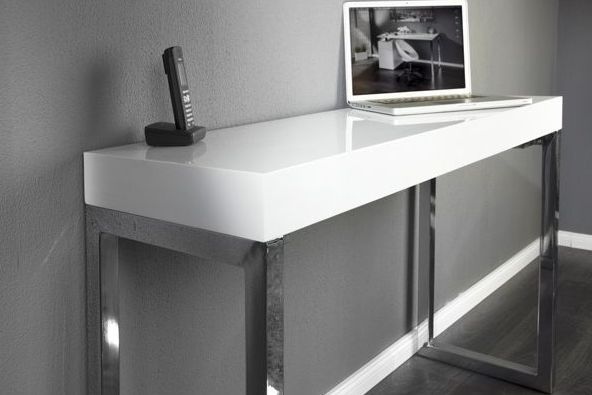 biurko feminiti lakierowane white wysoki po�ysk highgloss