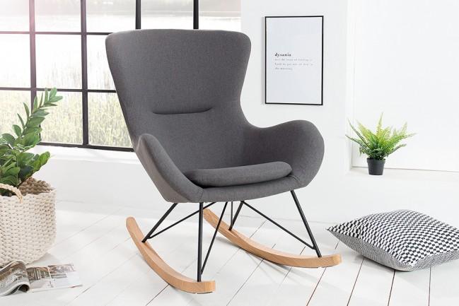 Fotel bujany scandinavia swing grey 38230 for Schaukelstuhl fredy