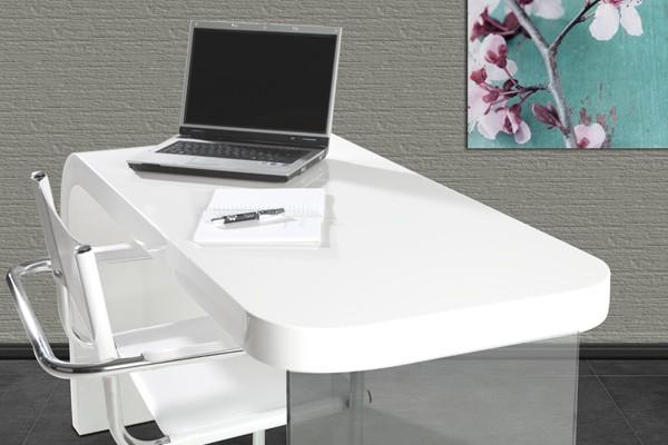 Biurko Lounge Future White Białe 140 Cm 17423 Invicta Interior