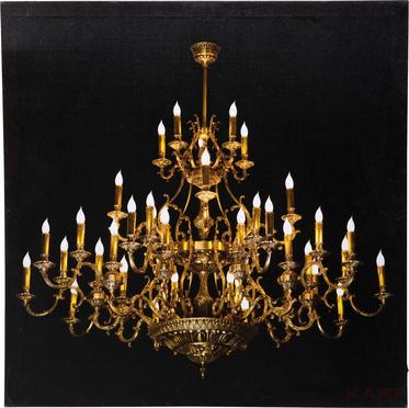 33793 kare design obraz kronleuchter led 60 x 60 cm by. Black Bedroom Furniture Sets. Home Design Ideas