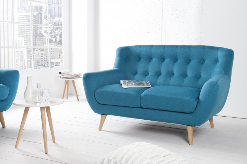 sofa scania petrol blue 35804 invicta interior dwuoosobowa niebieska fusion skandynawska. Black Bedroom Furniture Sets. Home Design Ideas