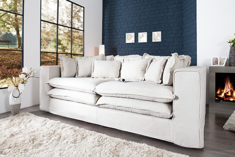 sofa cloud xxxl 230 cm creme 35523 invicta interior. Black Bedroom Furniture Sets. Home Design Ideas