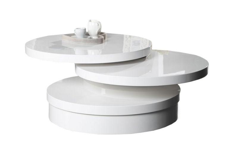 STOLIK CONCEPT MULTI XL round biały lakierowany wysoki