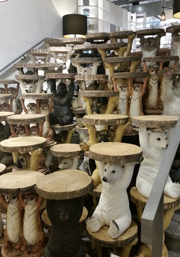 Stolik side table polar bear kare design 78943 awa st for Kare design tisch polar